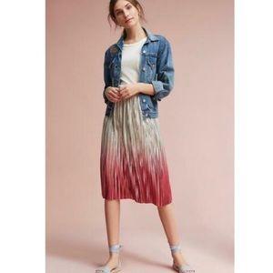 Anthropologie Ombre Pleated Skirt Seen Worn Kept